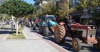 Αγρότες στην οδό Αριστομένους