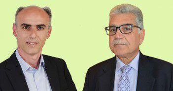 Γ. Γαβρήλος και Ηλ. Στρατηγάκος, αντιπρόεδρος και Πρόεδρος του Π.Σ.