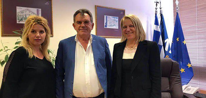 Γ. Παναγοπούλου, Γ. Τσώνης, Φρώσω Σταυράκη (Πρόεδρος ΕΛΤΑ)