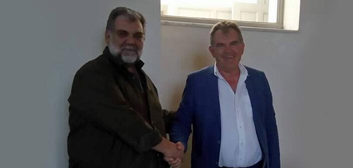 """Με τον πρόεδρο του """"Πράσινου Ταμείου"""" Γ. Πατρίκιο"""