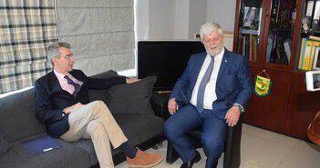 Ο Πρέσβης των ΗΠΑ με τον Δήμαρχο Τρίπολης