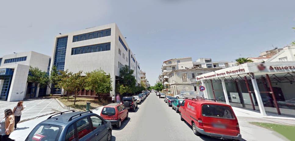 Οδός Δημοσθένους, όπου, σύμφωνα με ανακοίνωση του Δήμου, θα γίνει δενδροφύτευση