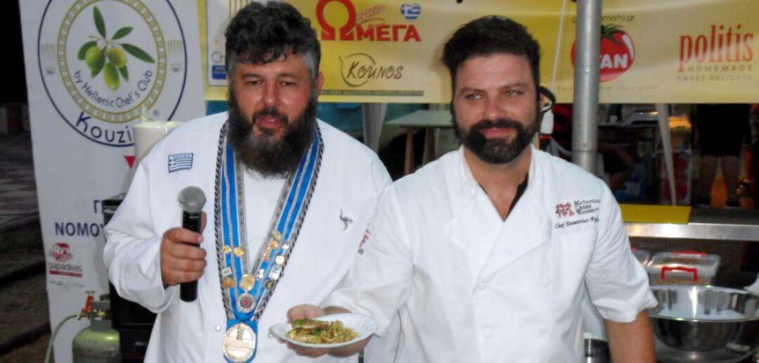 Ο σεφ Δημήτρης Πυλιώτης έφτιαξε λαυράκι στο τηγάνι με τη βοήθεια του Μιχάλη Αγγελόπουλου