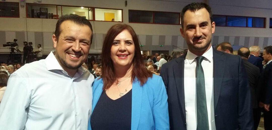 Με τους υπουργούς Νίκο Παππά και Αλέξη Χαρίτση