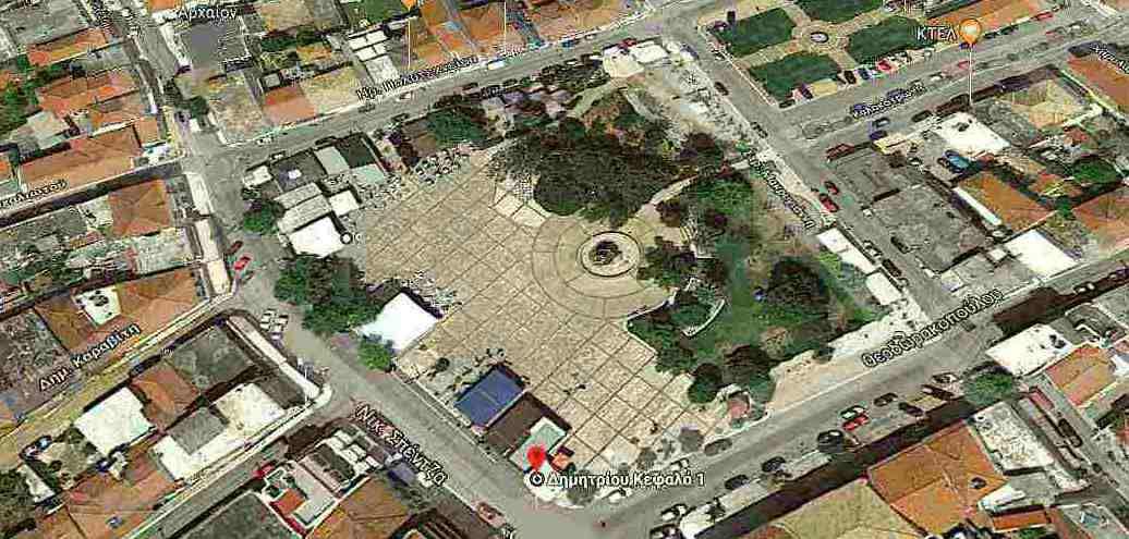 """Η Κεντρική πλατεία Φιλιατρών όπου θα πραγματοποιηθεί την Κυριακή η """"Γιορτή ψωμιού"""""""